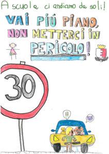 Volantino realizzato dai bambini, limite di velocità