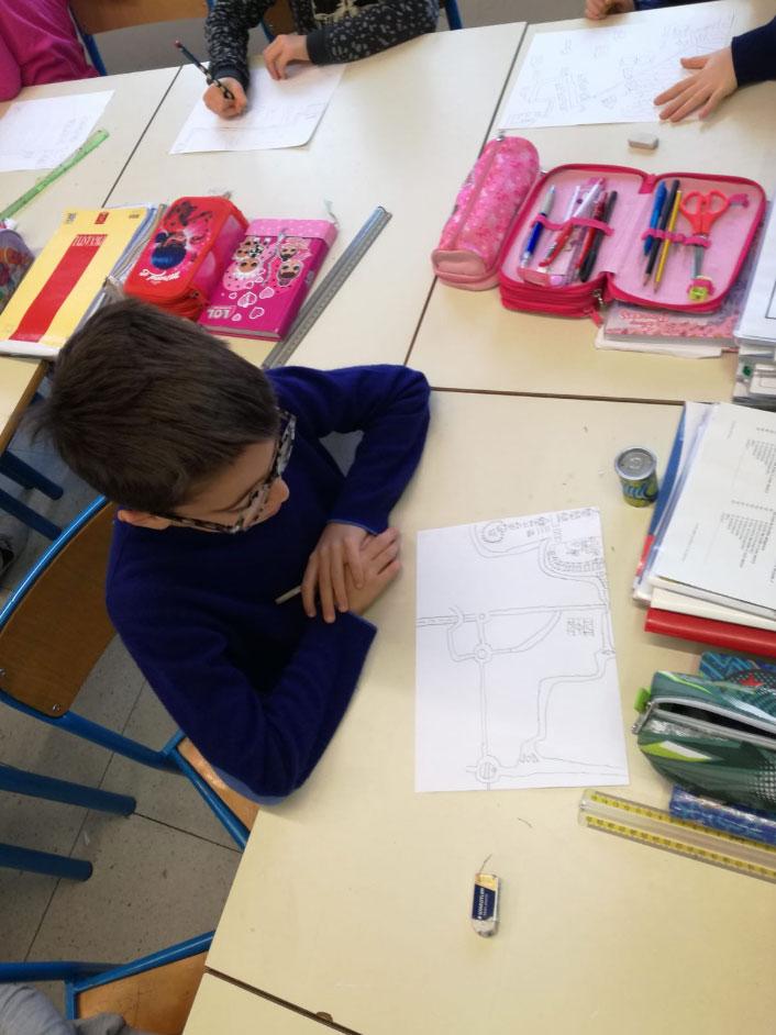 Rappresentazione del percorso casa/scuola dei bambini
