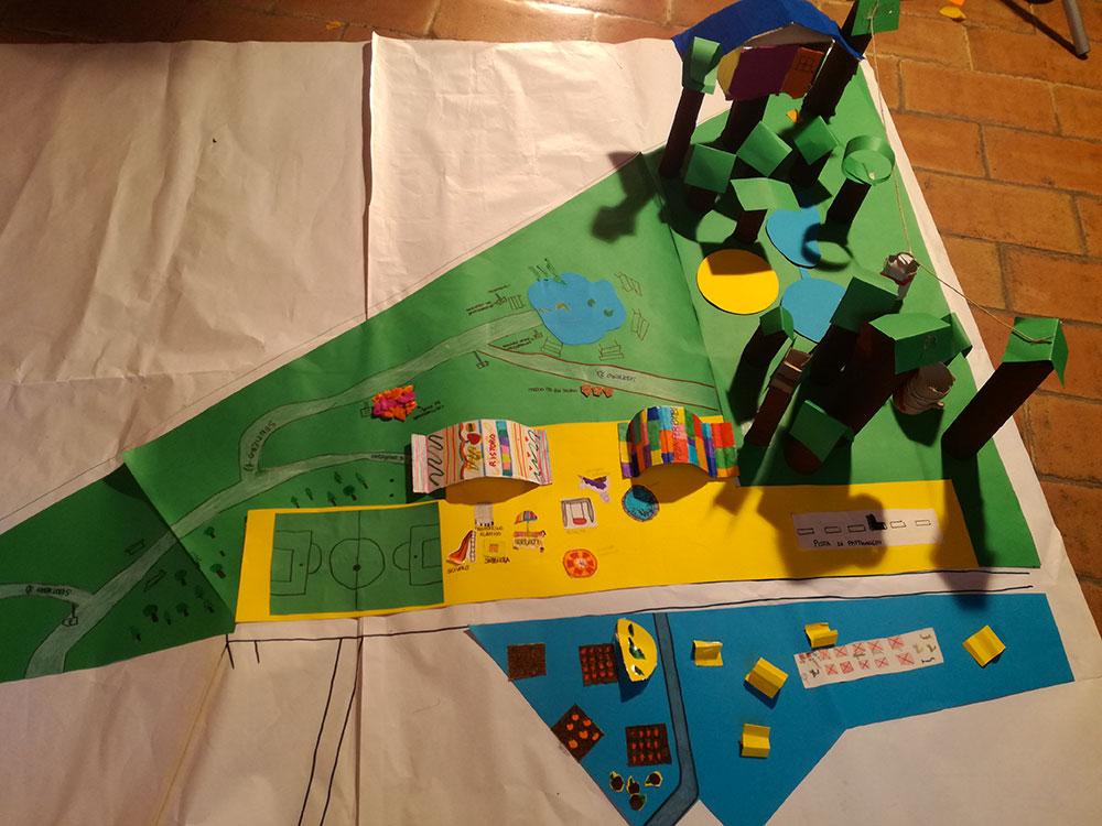 Modellino parco urbano fatto dai bambini