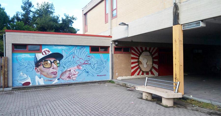 Interventi di street art Sant'Orso 3