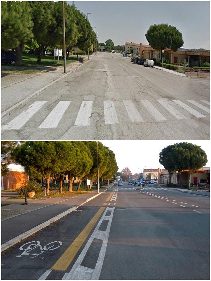 via Sant'Eusebio a Sant'Orso prima e dopo